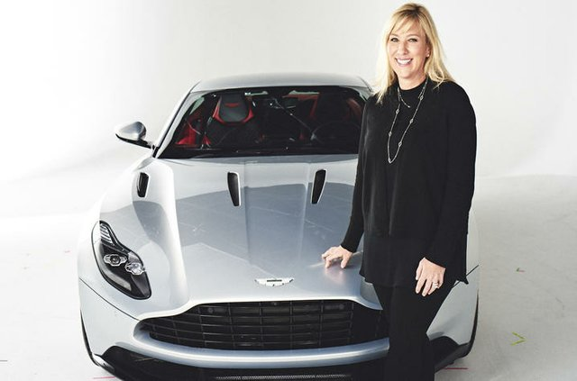 Laura Schwab President Aston Martin the Americas with the DB11 credit Aston Martin the Americas.jpg