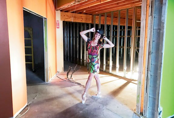 Bluegrass Youth Ballet_founder and owner Adalhi Aranda during construction phase of new facility on Southland Drive_photo provided by Bluegrass Youth Ballet.jpg