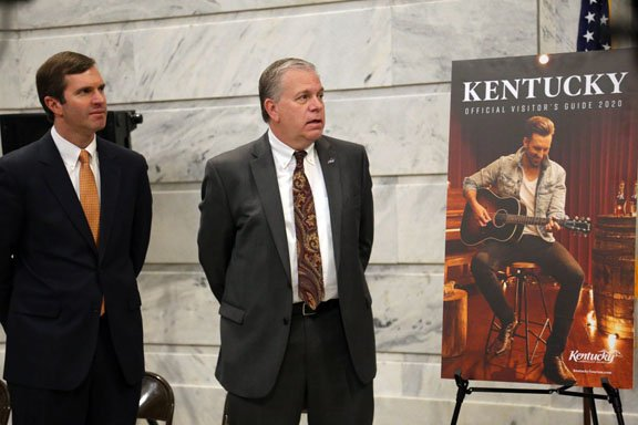 Kentucky Gov. Andy Beshear and Secretary of Tourism, Arts & Heritage Cabinet Mike Berry Unveil Kentucky's Official Visitor's Guide Focusing featuring JD Shelburne on the Cover.JPG