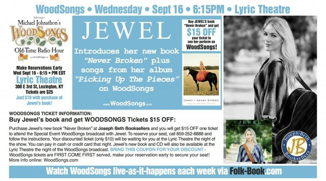 WoodSongs Special Event: Jewel