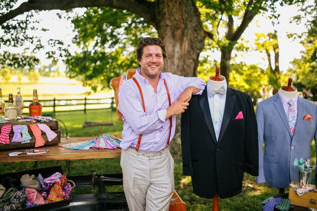 Erif Goff with his line of E.F. Meeks men's accessories.jpg