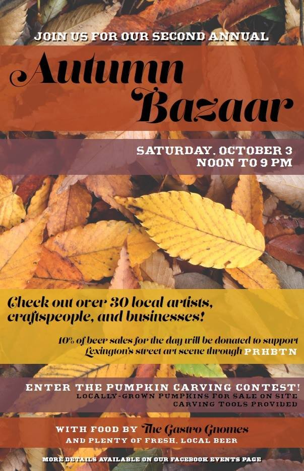 2nd Annual Autumn Bazaar and Pumpkin Carving Contest