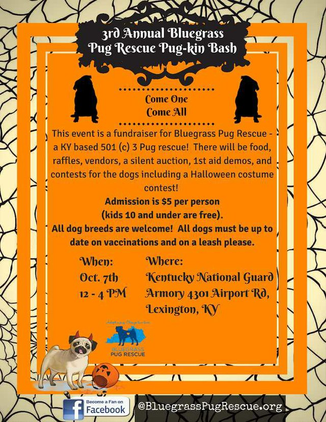 3rd Annual Bluegrass Pugkin Bash