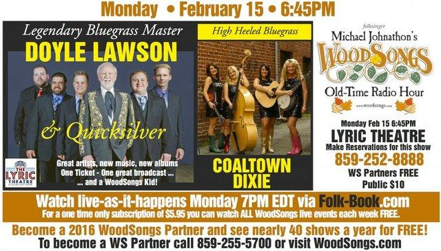 WoodSongs: Doyle Lawson/ Coaltown Dixie