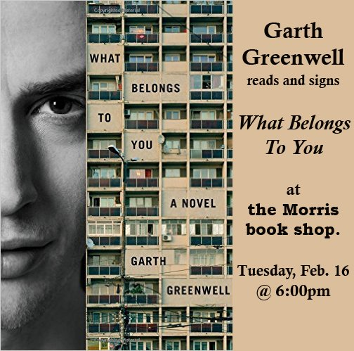 "Garth Greenwell reads from and signs, ""What Belongs to You."""