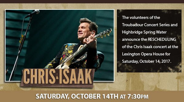 Chris Isaak: First Comes the Night Tour