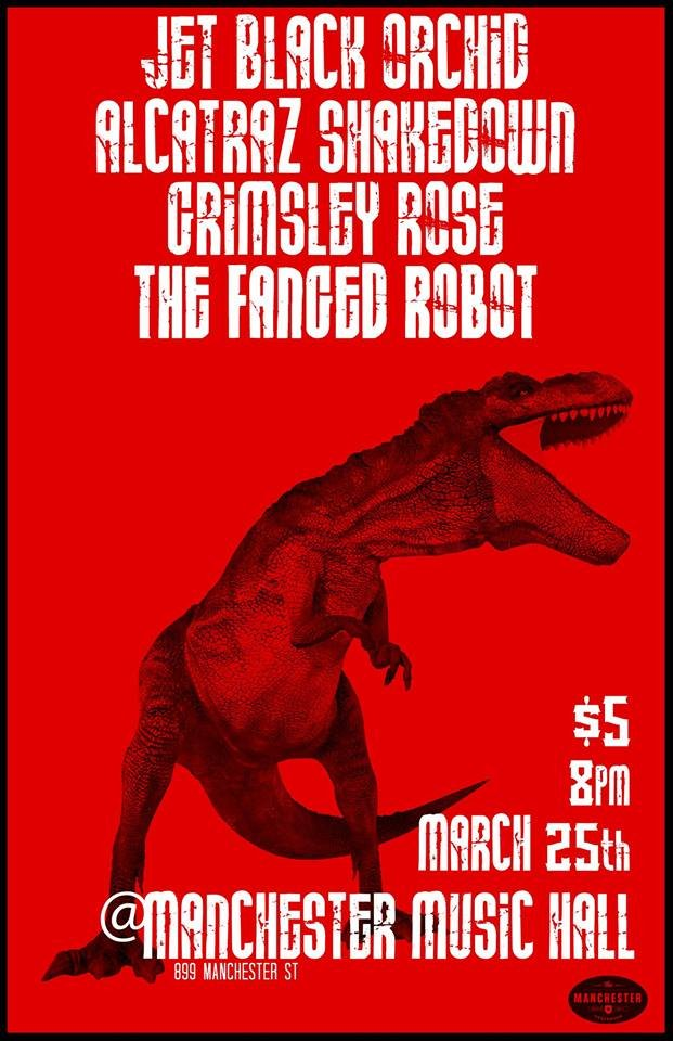 Fanged Robot/ Alcatraz Shakedown/ Grimsley Rose/ Jet Back Orchid