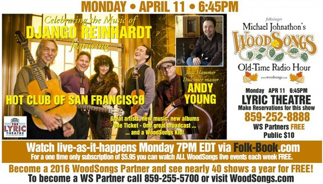 WoodSongs: Hot Club of San Fransisco/ Andy Young/ Grant Flick