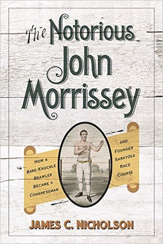 "James C. Nicholson signs ""The Notorious John Morrissey"""