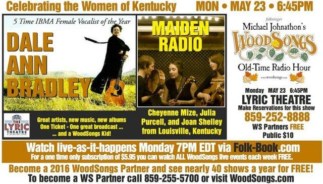 WoodSongs: Dale Ann Bradley/ Maiden Radio