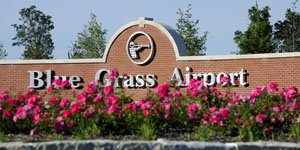 Blue Grass Airport entrance sign
