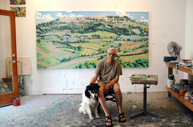 Tharsing in the studio with his commission for Bellarmine college_photo by Ann Tower.jpg
