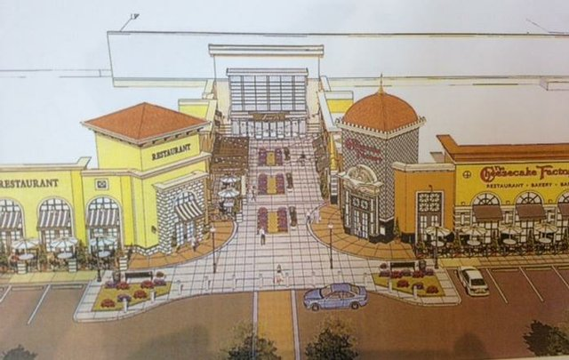 New Stores at Fayette Mall Rendering