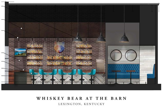 Whiskey Bear at The Barn Food Hall at Fritz Farm - Rendering